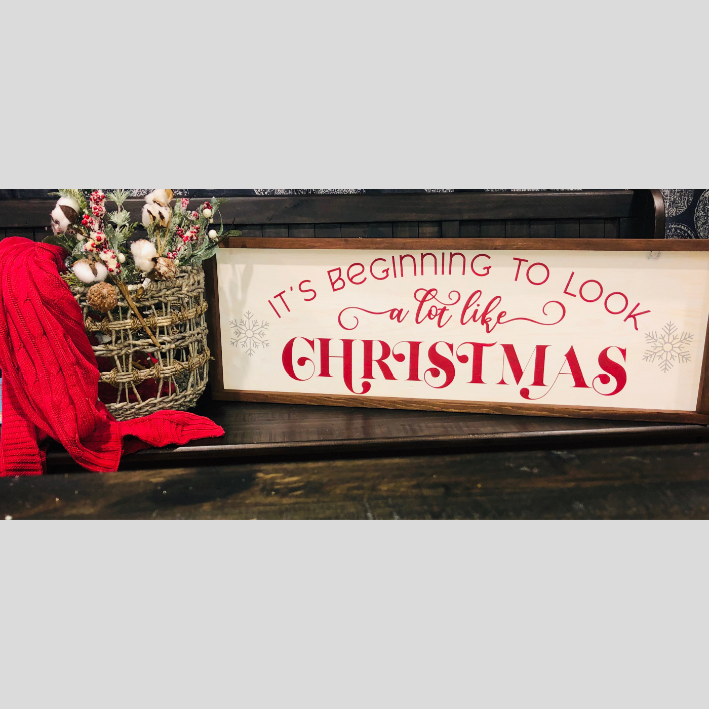 A Lot Like Christmas DIY Wood Sign