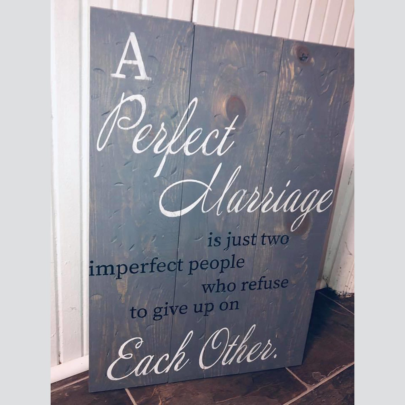 A Perfect Marriage DIY Wood Sign