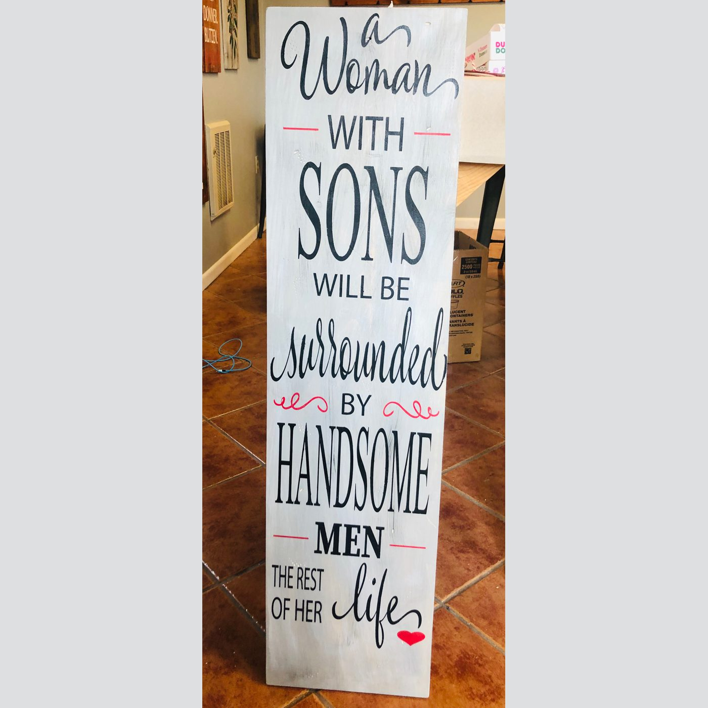 A Woman with Sons DIY Project