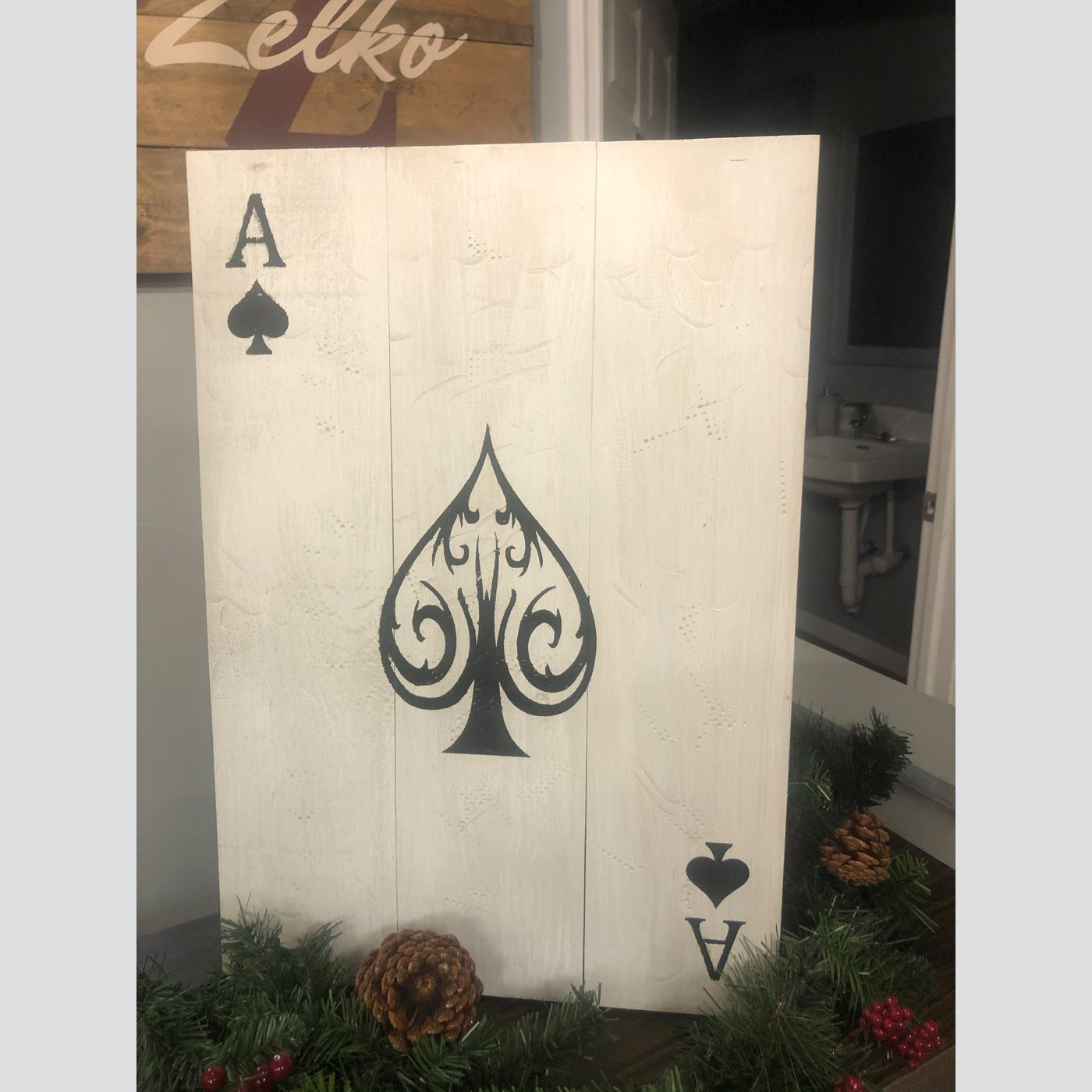 Ace of Spades DIY Wood Signs
