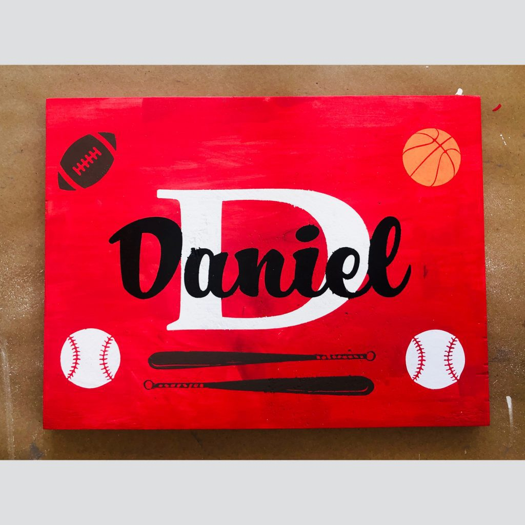 All Sports with Personalization DIY Kid's Wood Sign
