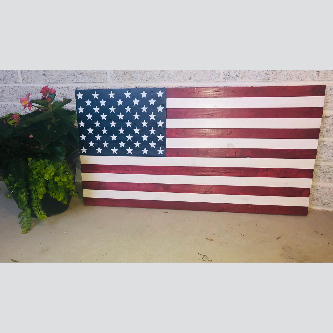 American Flag DIY Wood Sign