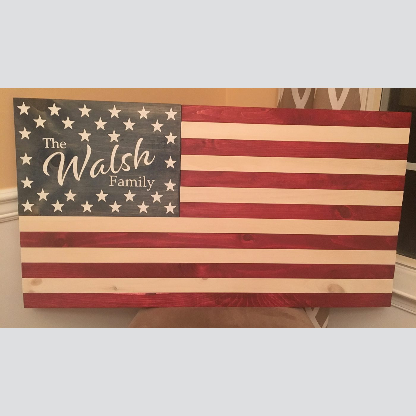 American Flag Personalized DIY Wood Sign