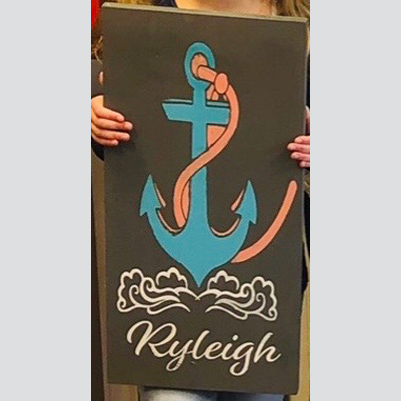 Anchor with Personalization DIY Kid's Wood Sign