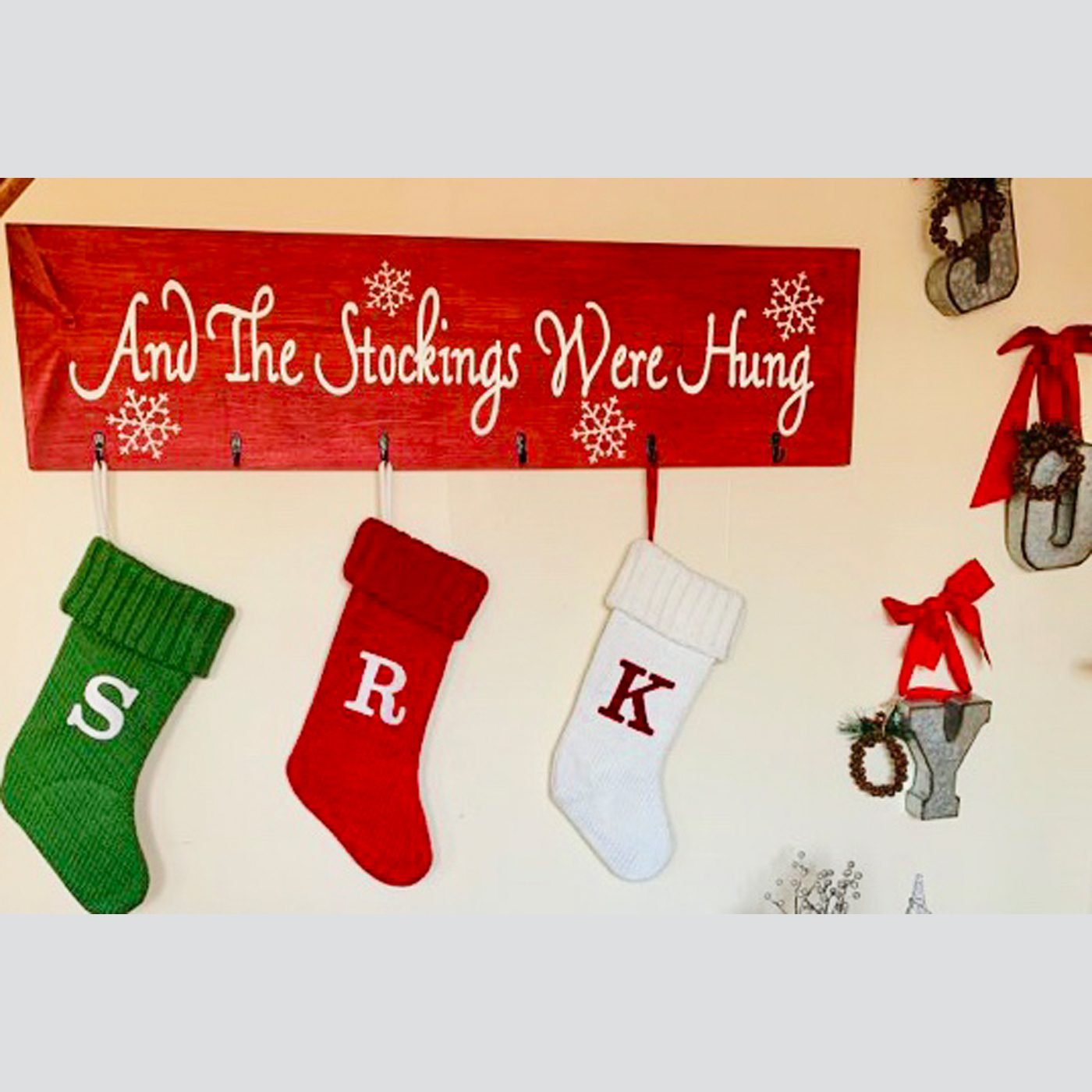 And the Stockings Were Hung DIY Wood Sign