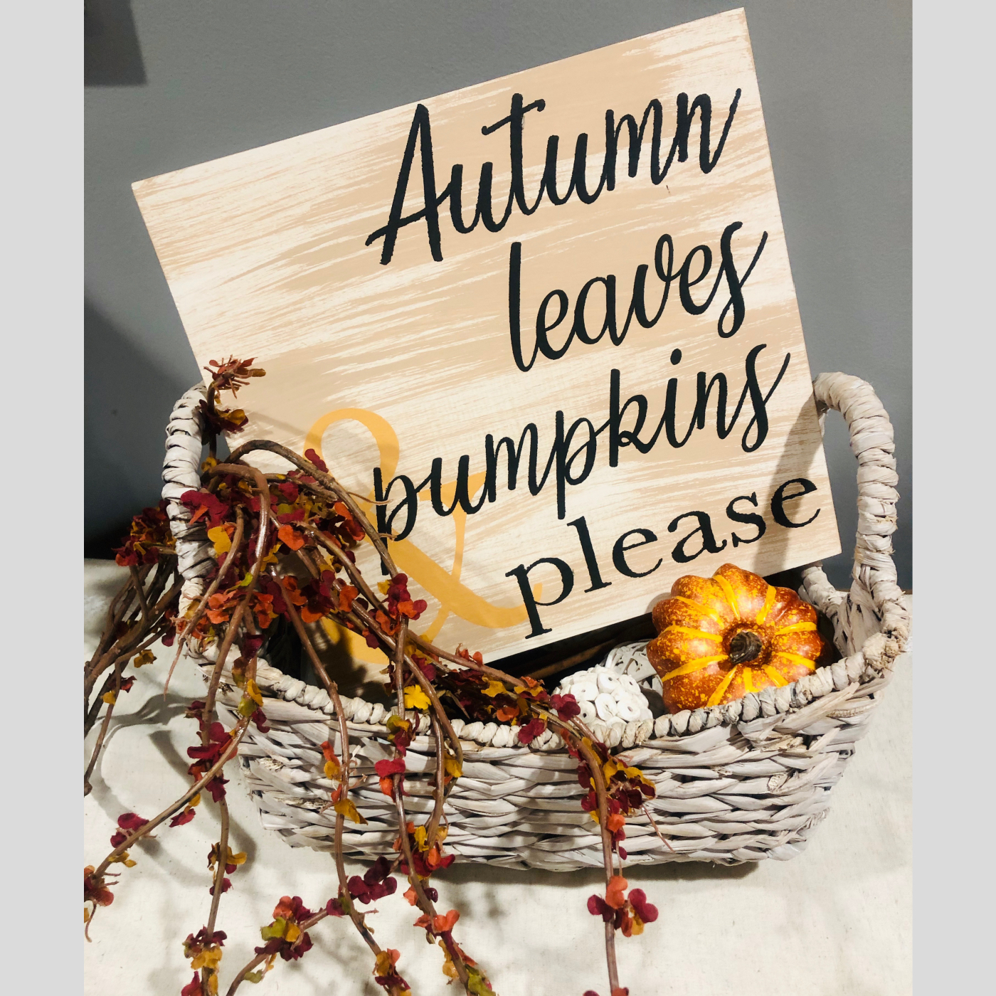 Autumn Leaves & Pumpkins please DIY Wood Signs Bethlehem PA
