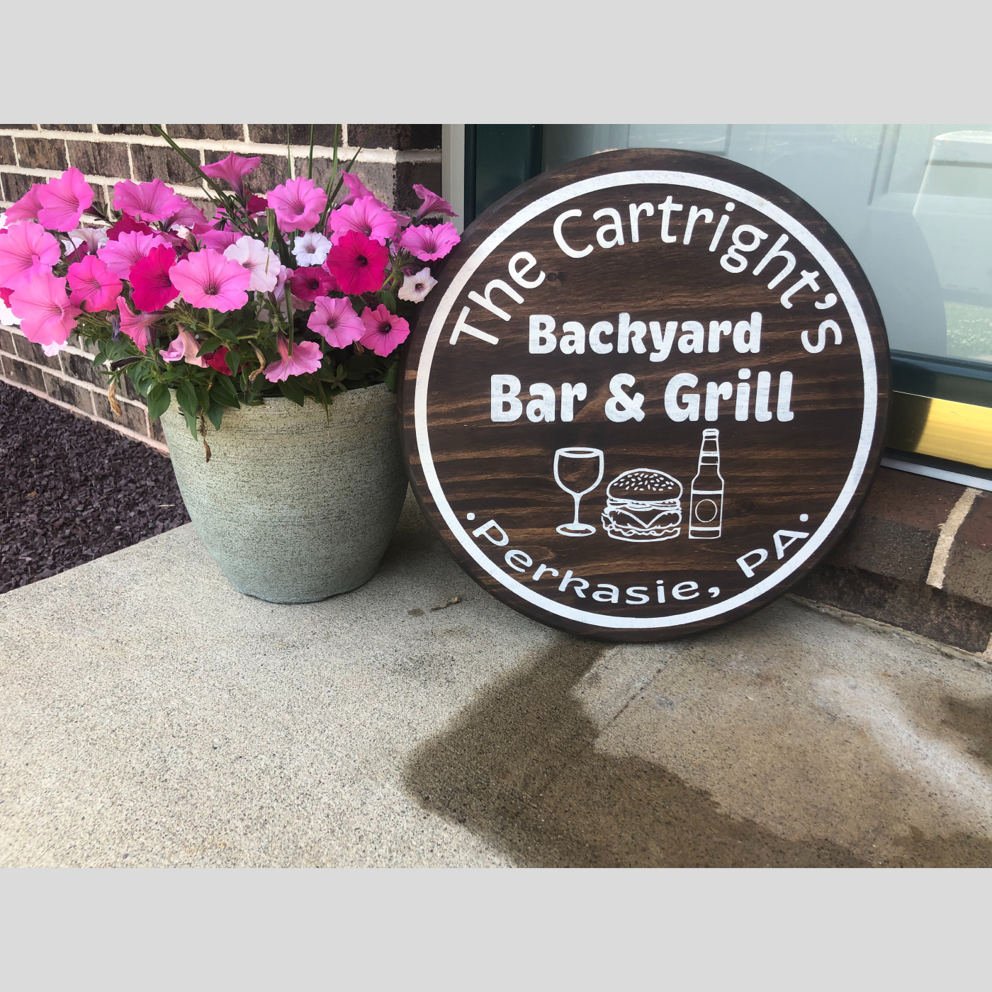 Backyard Bar and Grill DIY Wood Sign Bethlehem PA