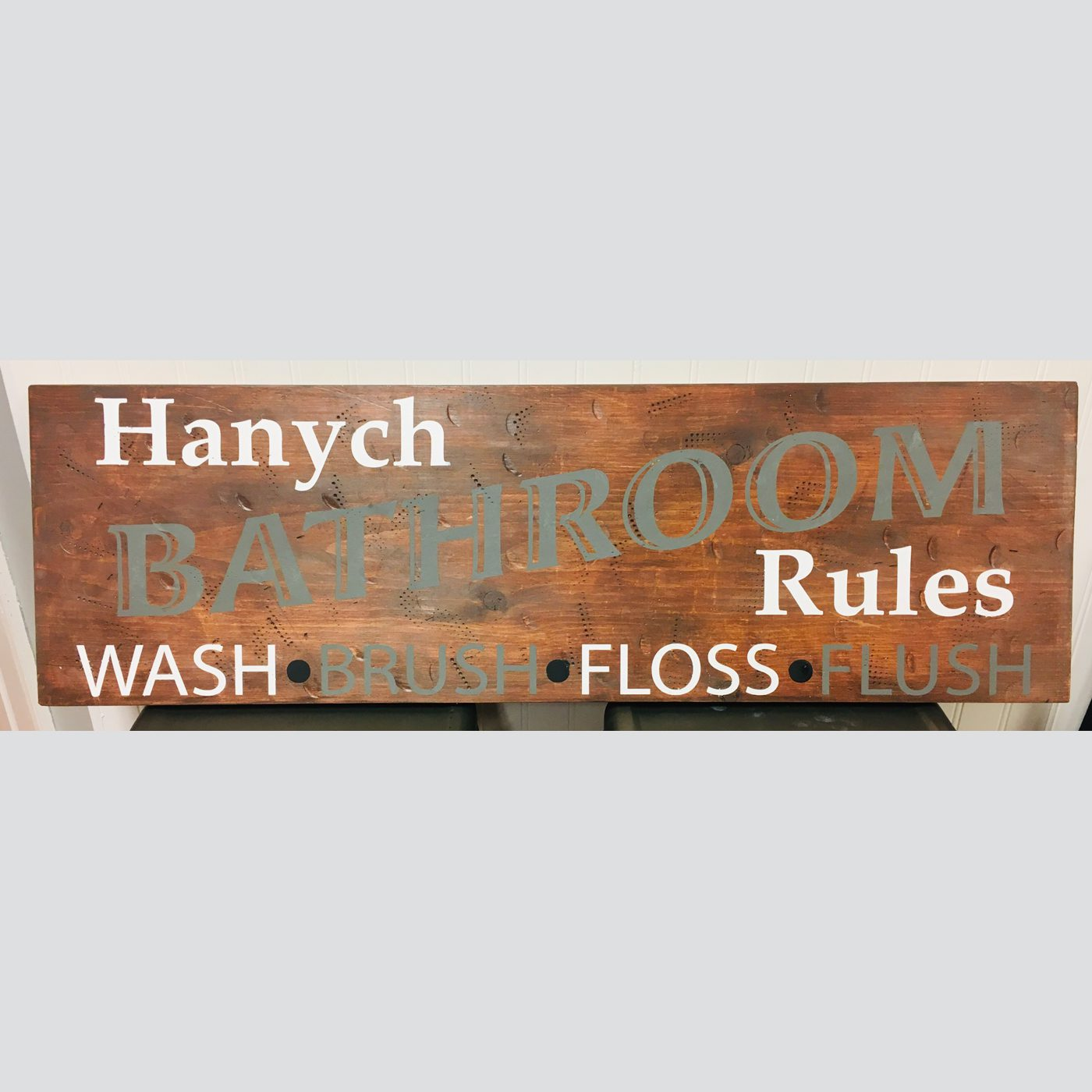 Bathroom Rules DIY Wood Bathroom Sign