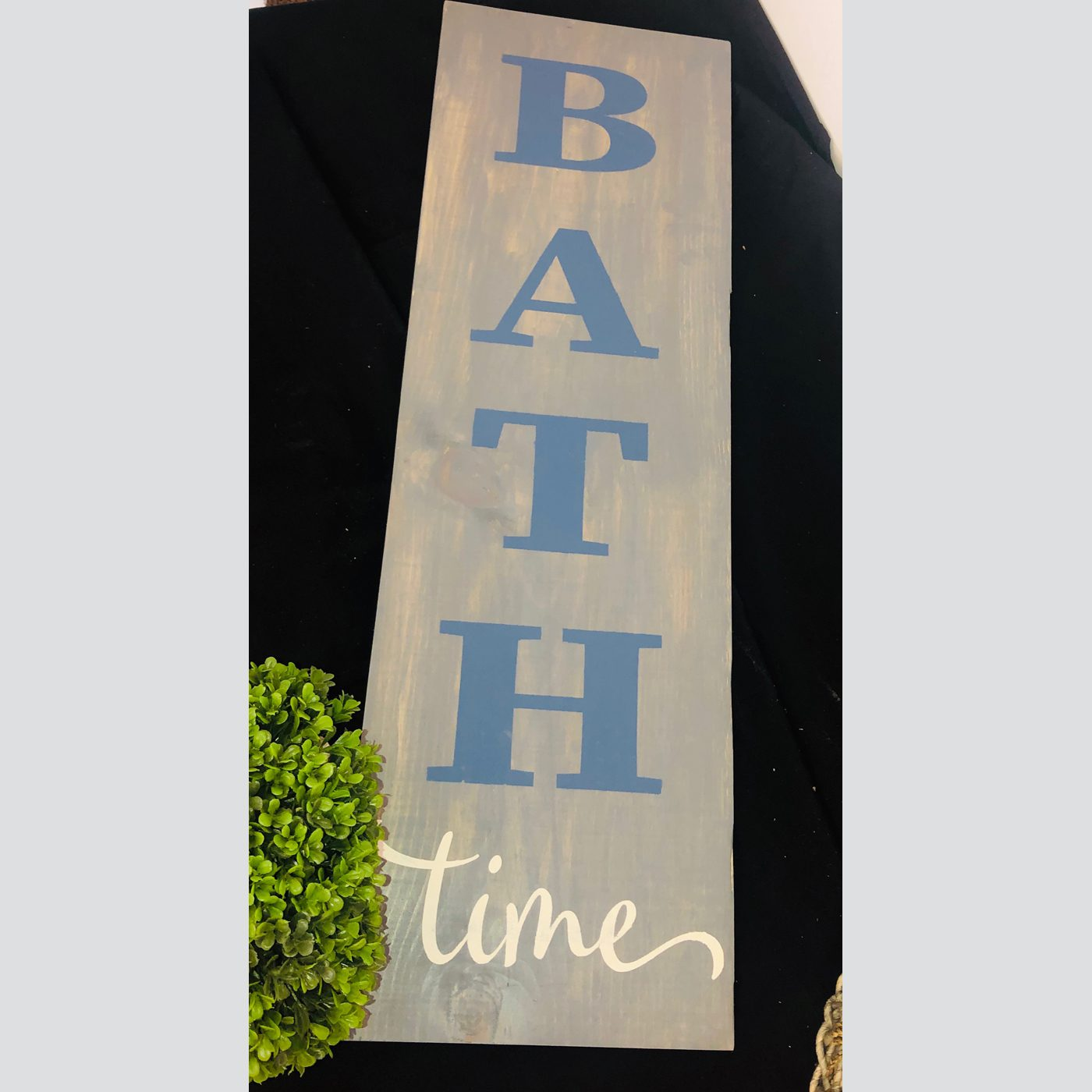 Bathtime DIY Wood Bathroom Sign