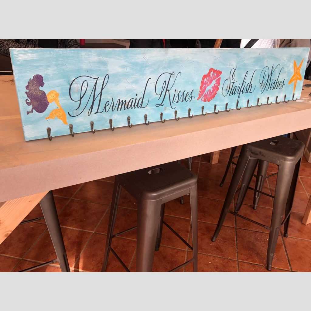 Beach Towel Holder with Hooks - Customized-DIY Outdoor Wood Sign