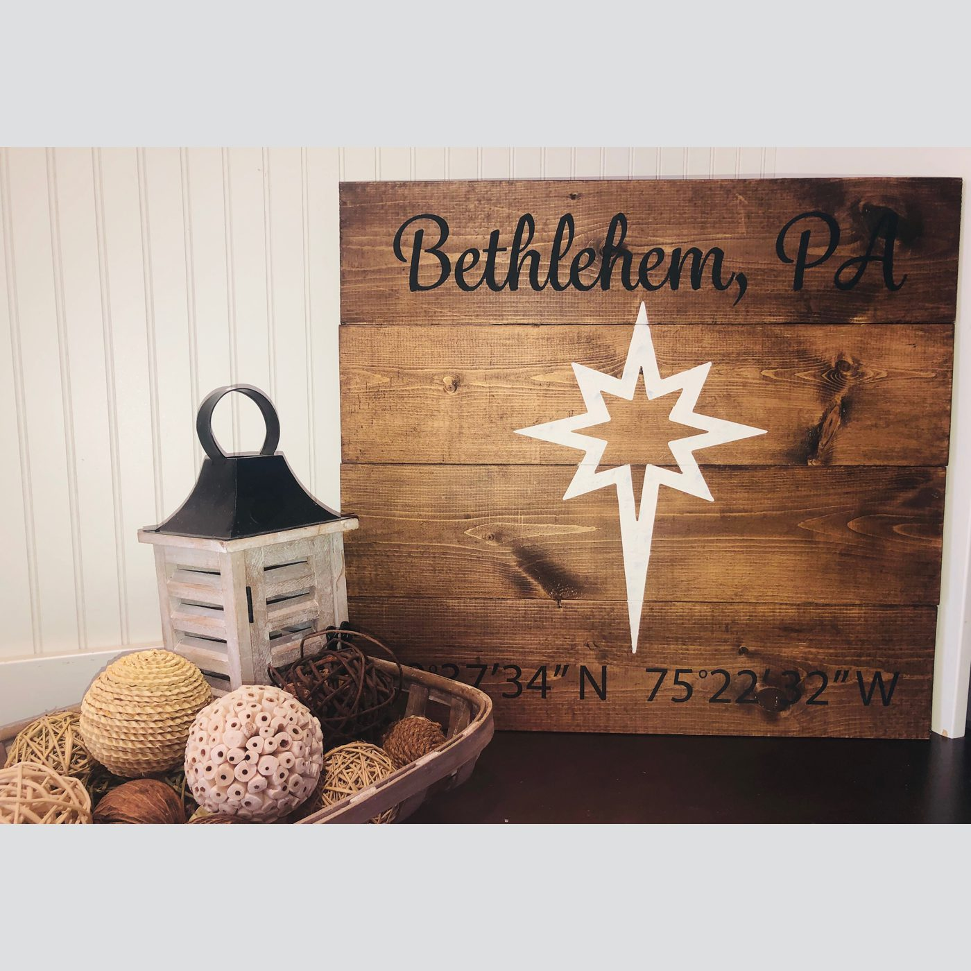 Bethlehem Star DIY Wood Sign