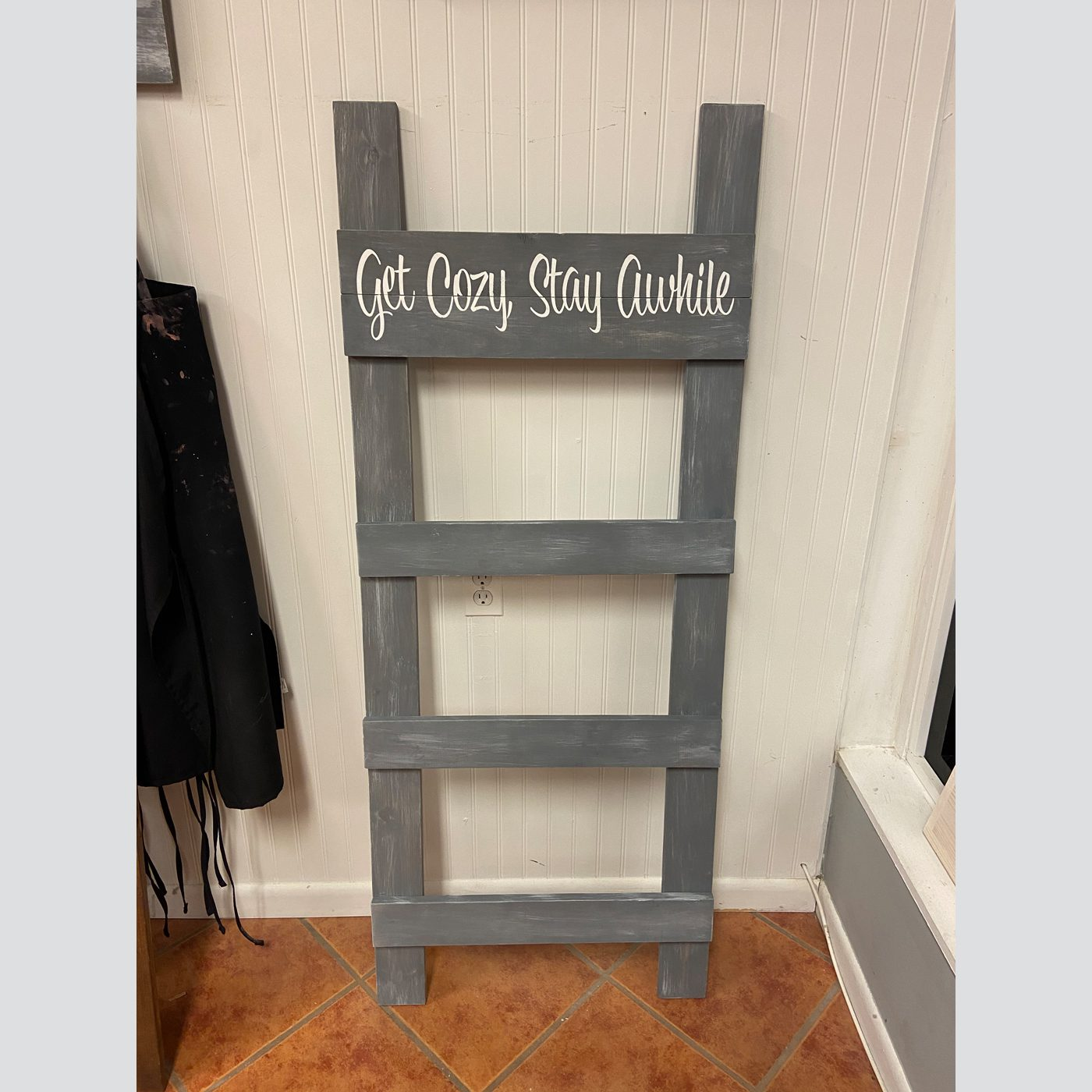 Blanket Ladder (Flush Style) DIY Wood Decor