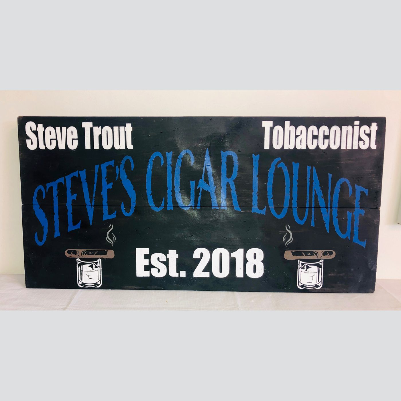 Cigar Lounge DIY Man Cave Wood Sign