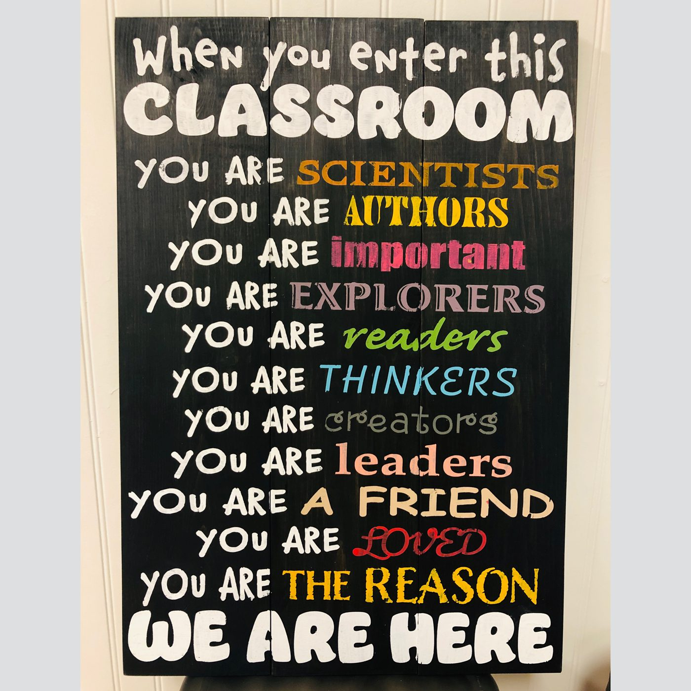 Classroom Rules DIY School Wood Sign