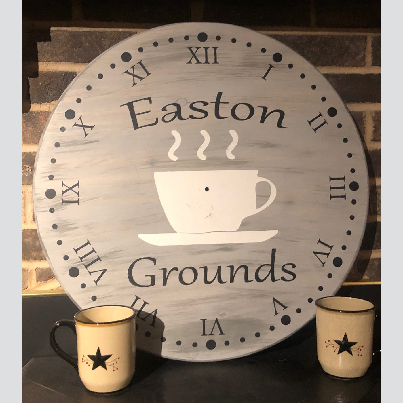 Clock-Customized DIY wood sign coffee