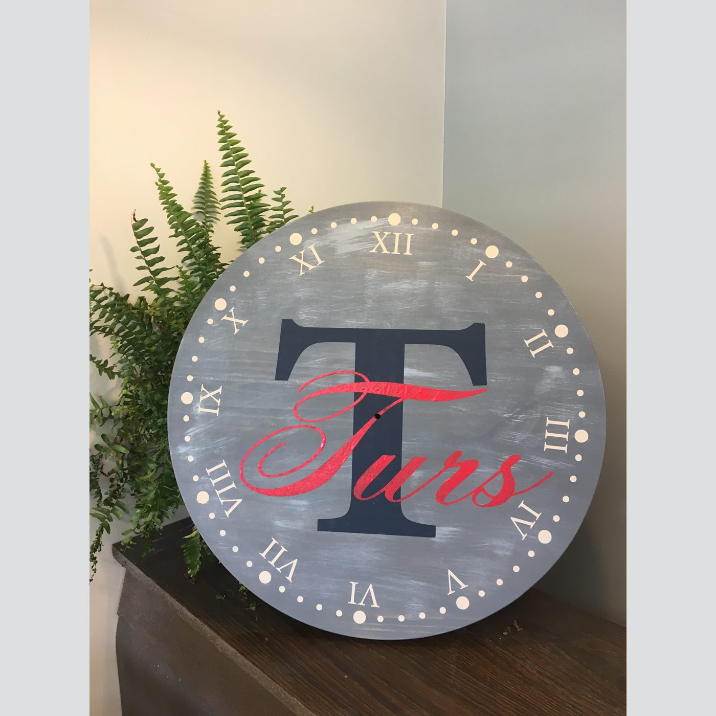 Clock - Monogram DIY wood sign