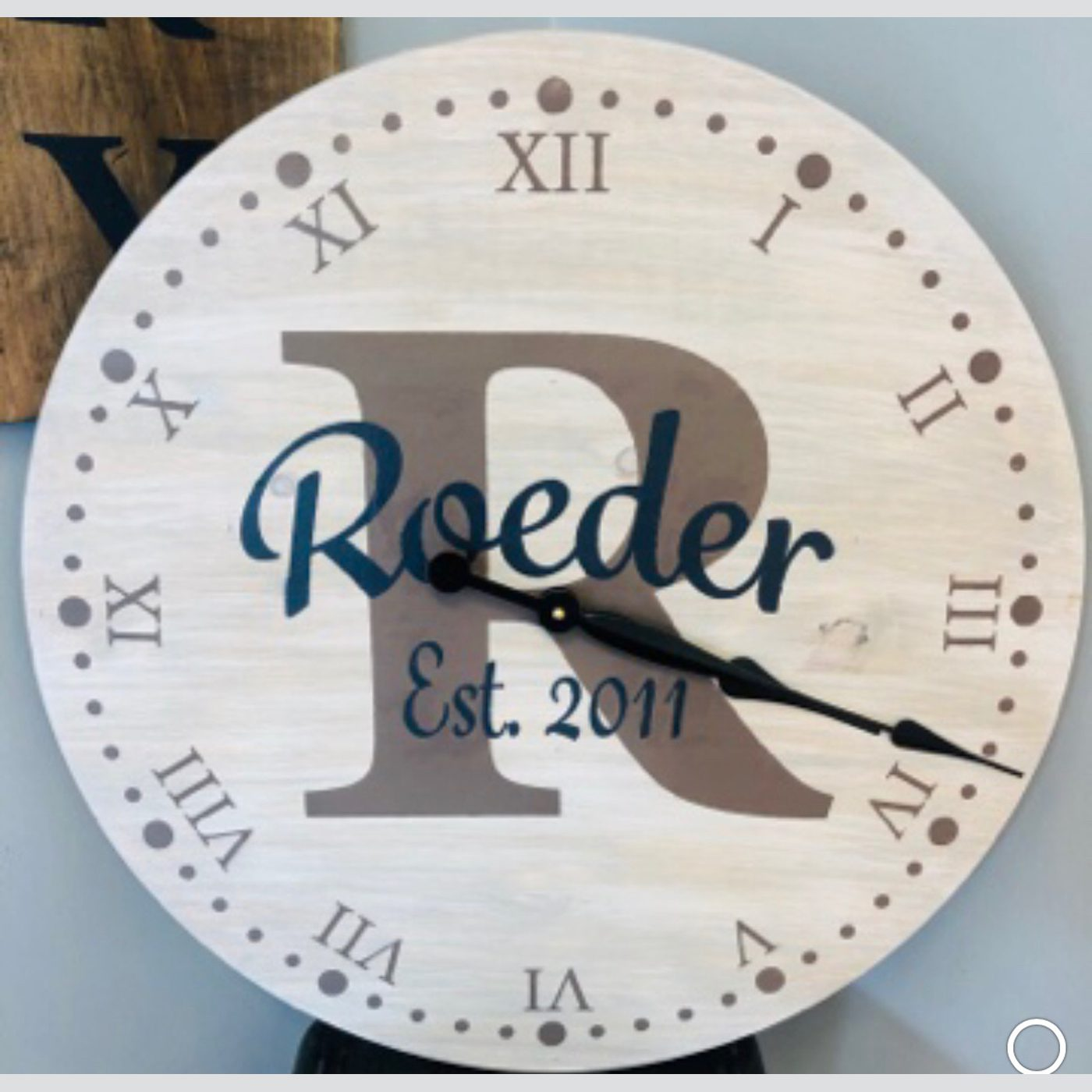 Clock with Monogram and Established Date DIY Project
