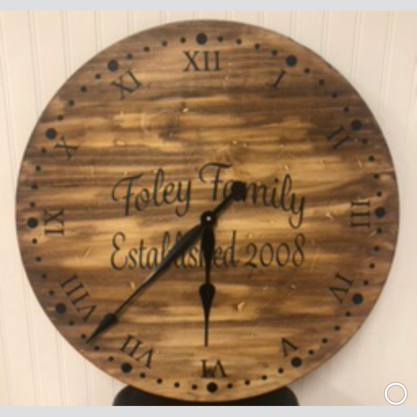 Clock - Script Monogram with Established Date DIY wood sign