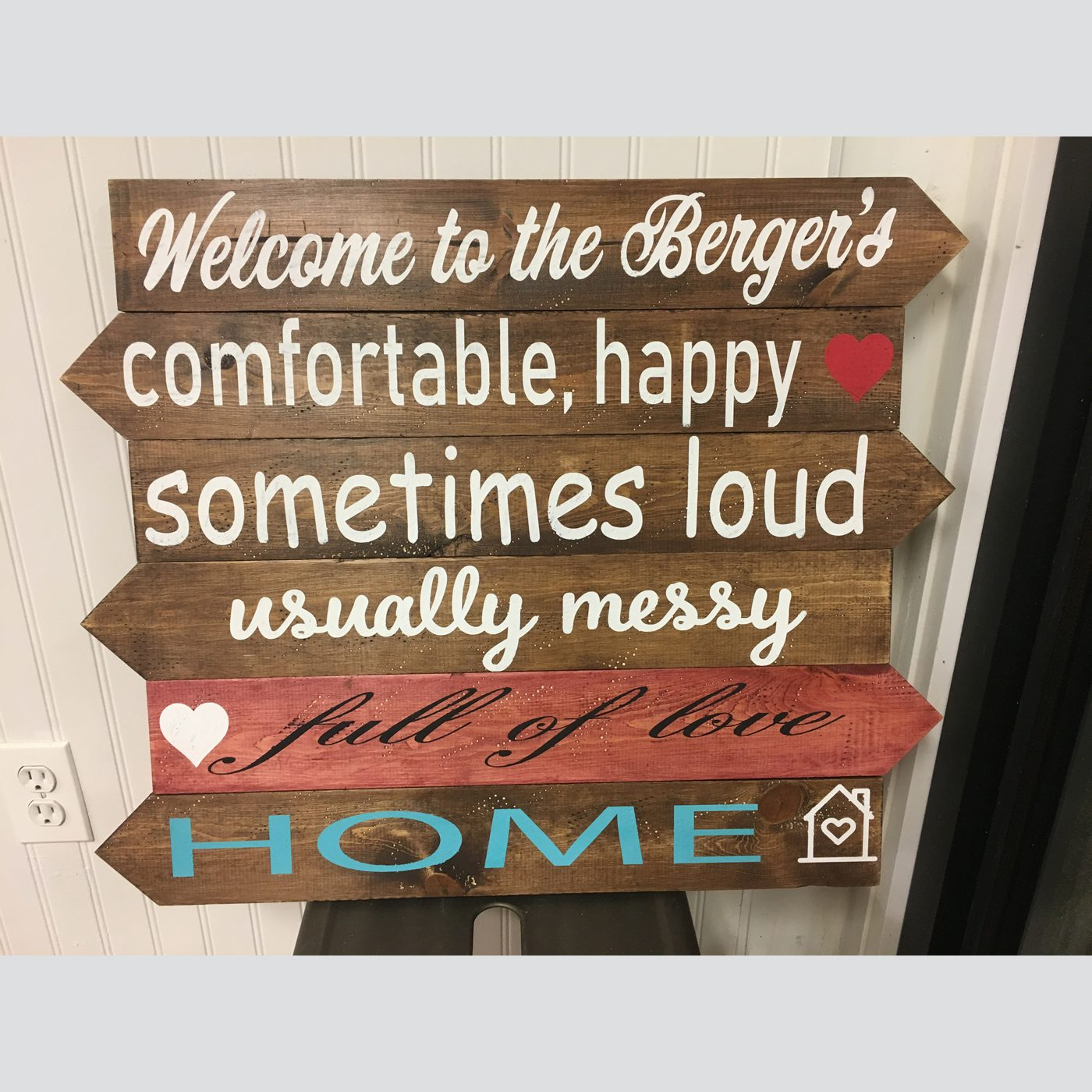 Comfort, Happy Home DIY wood sign