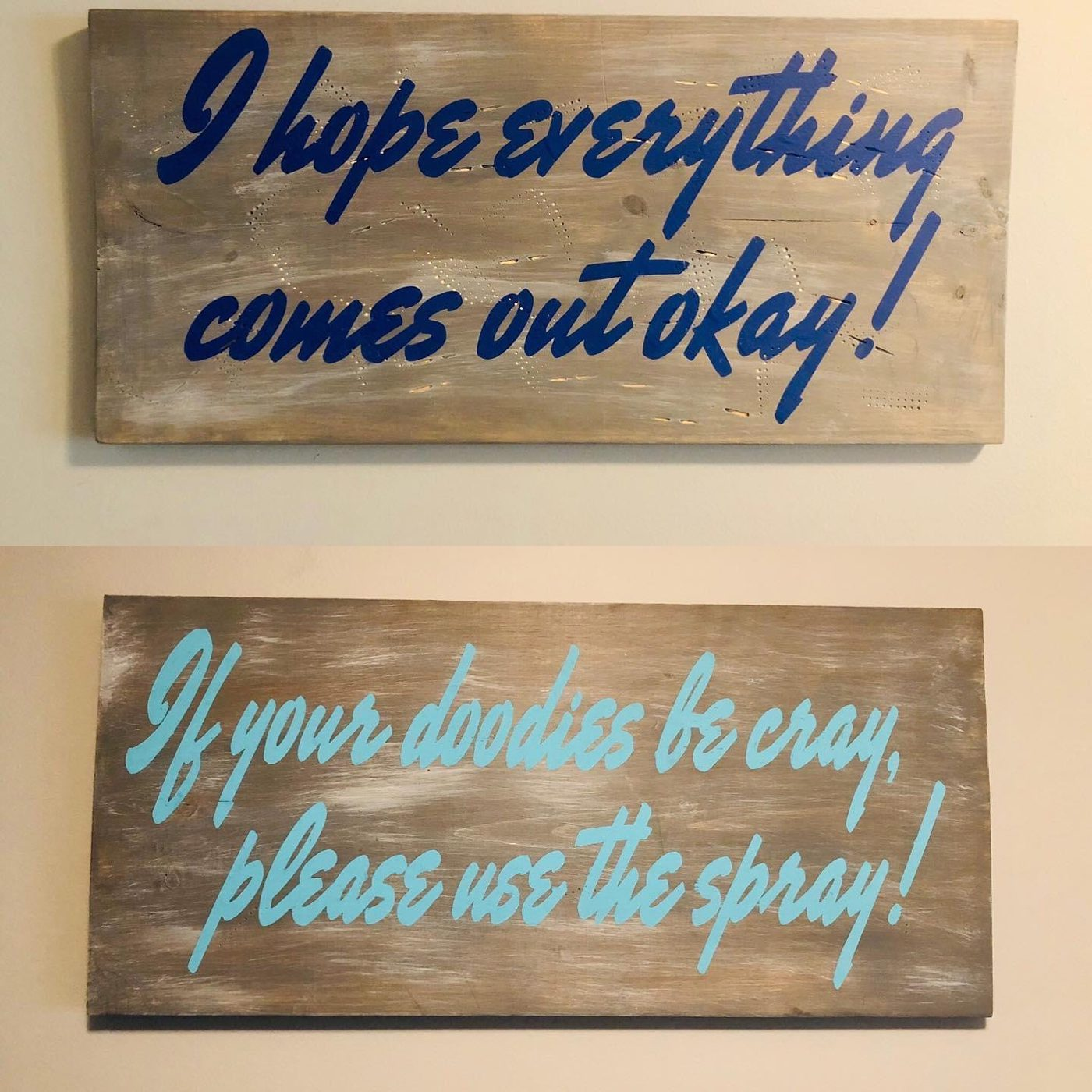 Customizable Bathroom Signs DIY wood sign