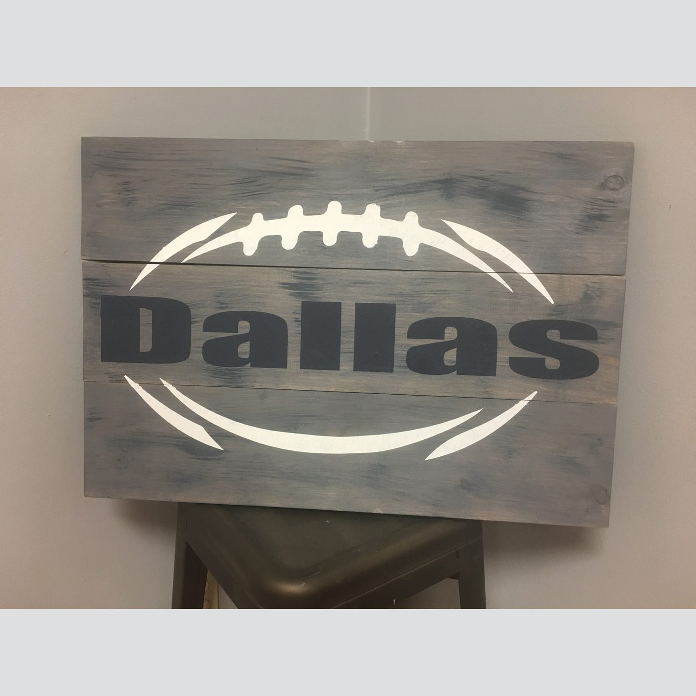 Customizable Football DIY wood sign sports