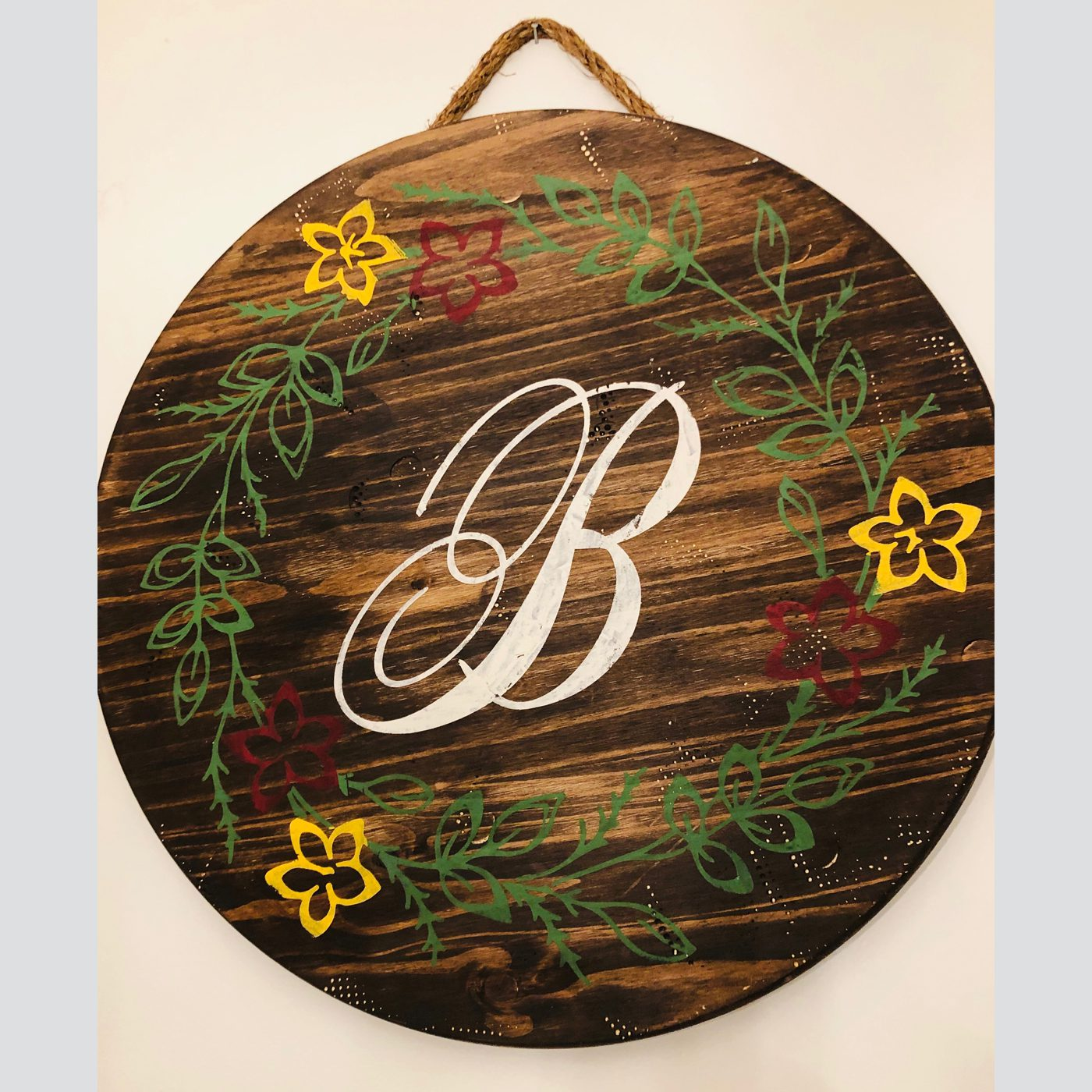 Customized Large Round DIY wood sign