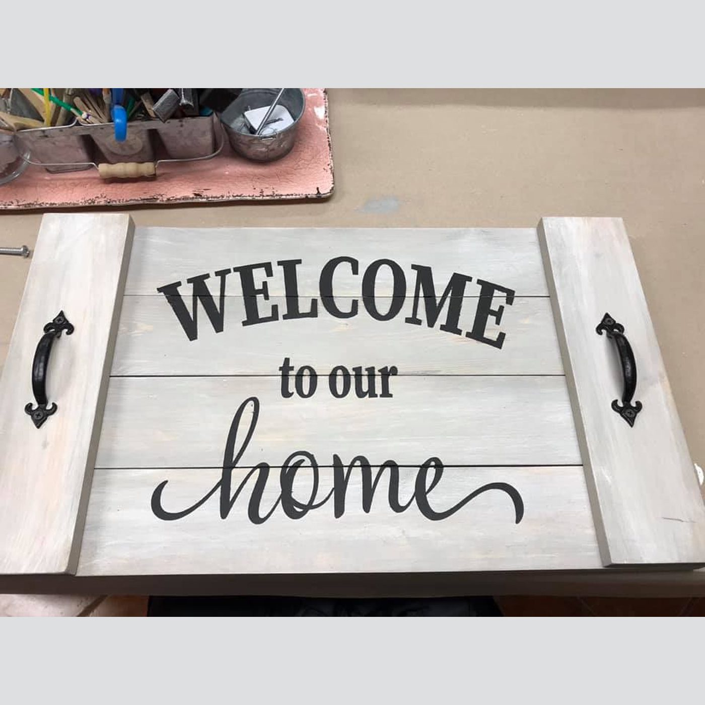 Customized Tray DIY wood sign