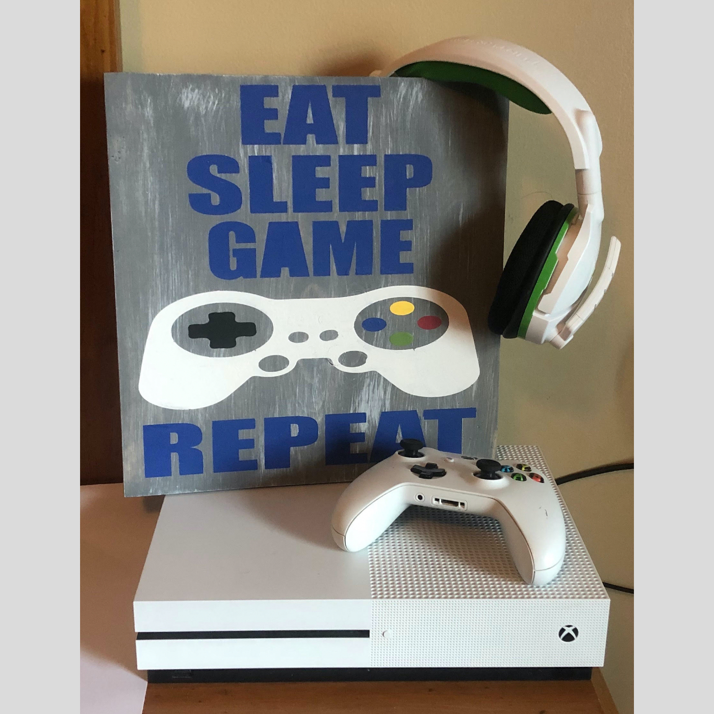 Eat, Sleep, Game, Repeat DIY Kids Wood Sign