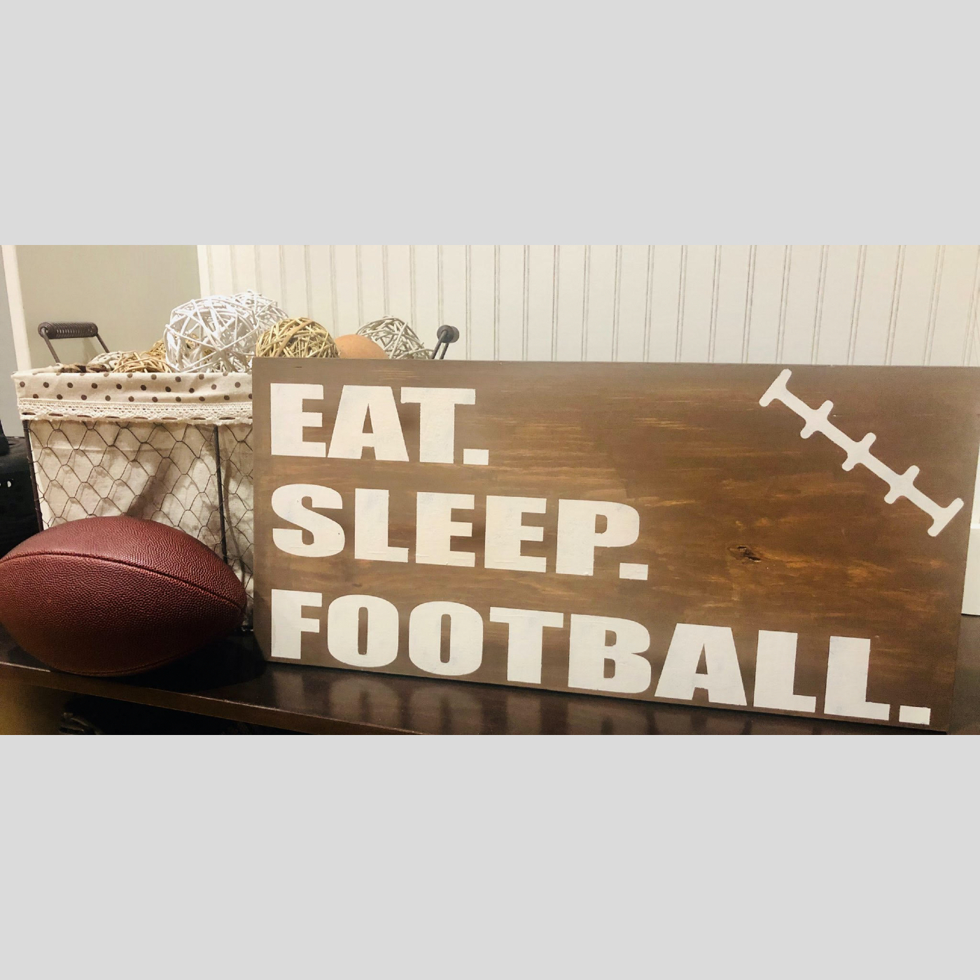 Eat. Sleep. Football. DIY Kids Wood Sign