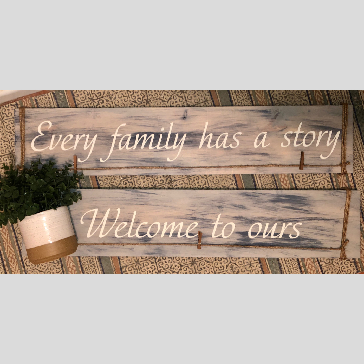 Every Family has a Story DIY Wood Sign Bethlehem PA