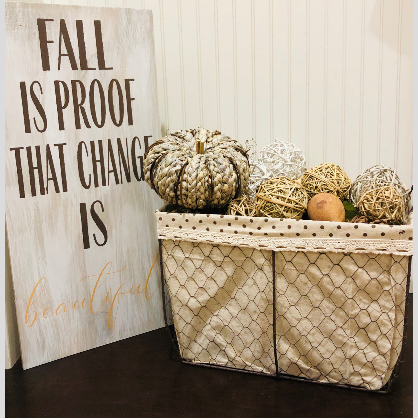 Fall is Proof that Change is Beautiful DIY Wood Sign Bethlehem PA