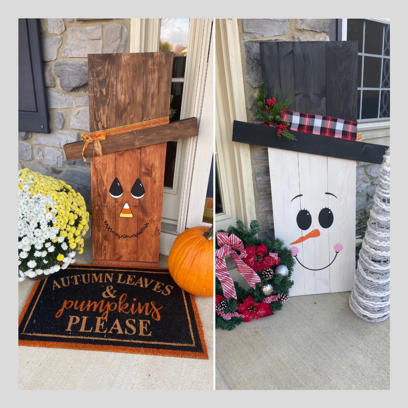 Fall-Winter Reversible Porch Sign DIY Wood Sign Bethlehem PA