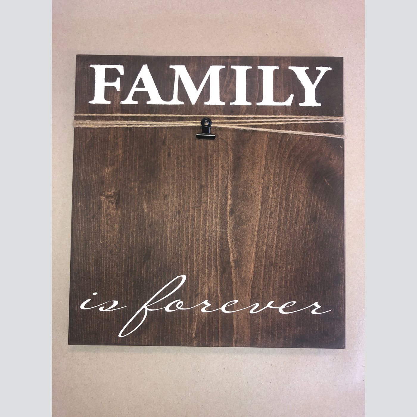 Family is Forever Picture Frame DIY wood sign