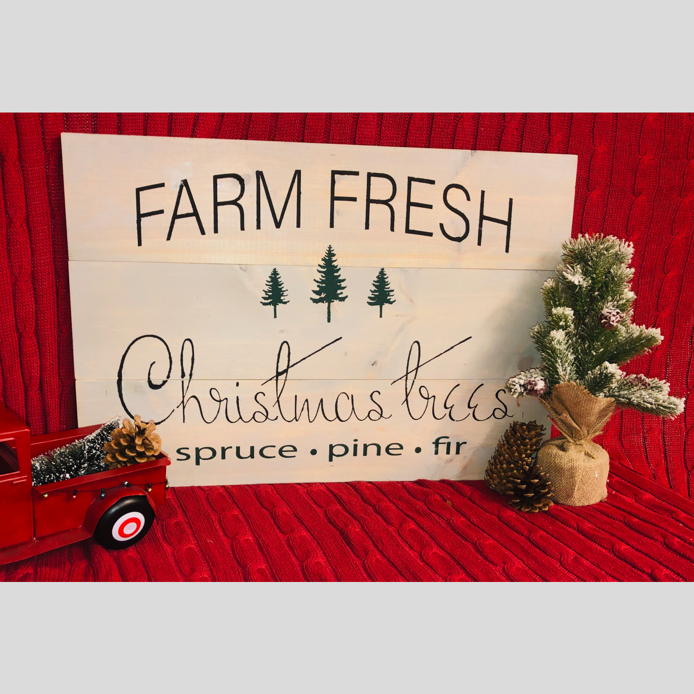 Farm Fresh Christmas Trees DIY Wood sign Christmas