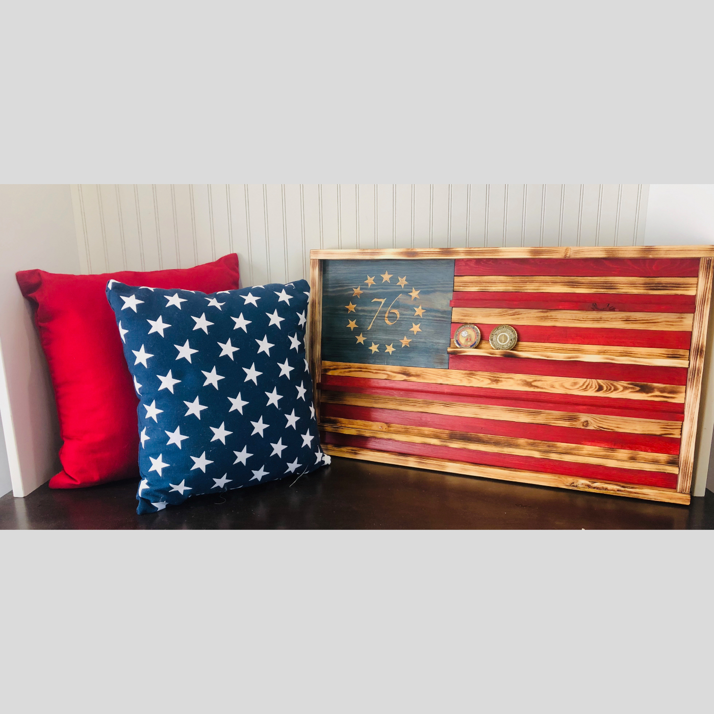 Flag Coin Holder DIY Rustic Wood Project Bethlehem PA