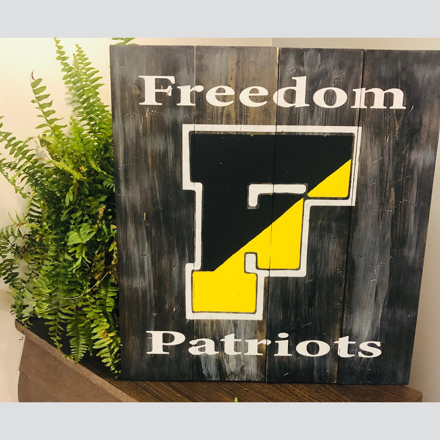 Freedom Patriots DIY wood sign sports bethlehem