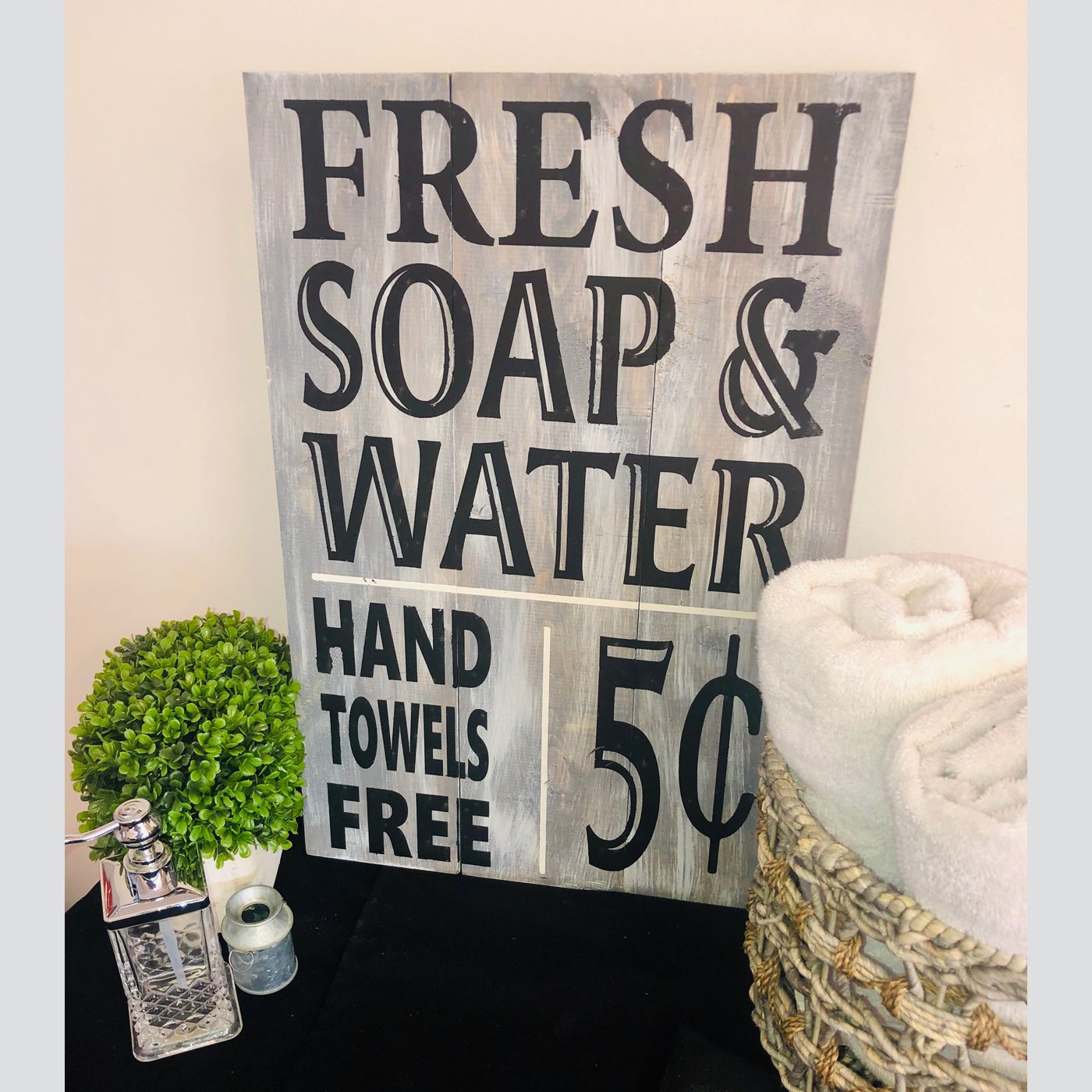 Fresh Soap DIY wood sign