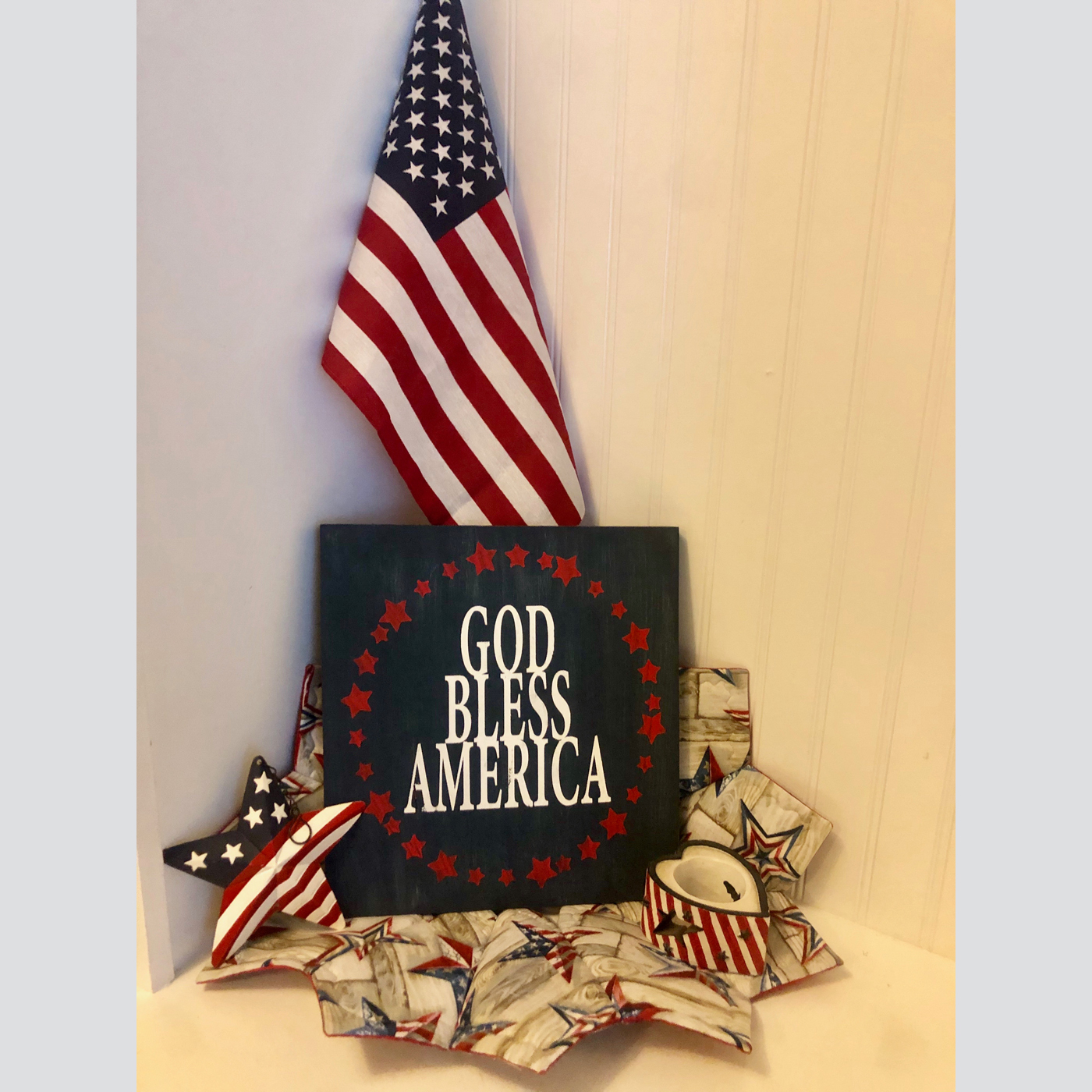 God Bless America DIY wood sign patriotic 4th of July