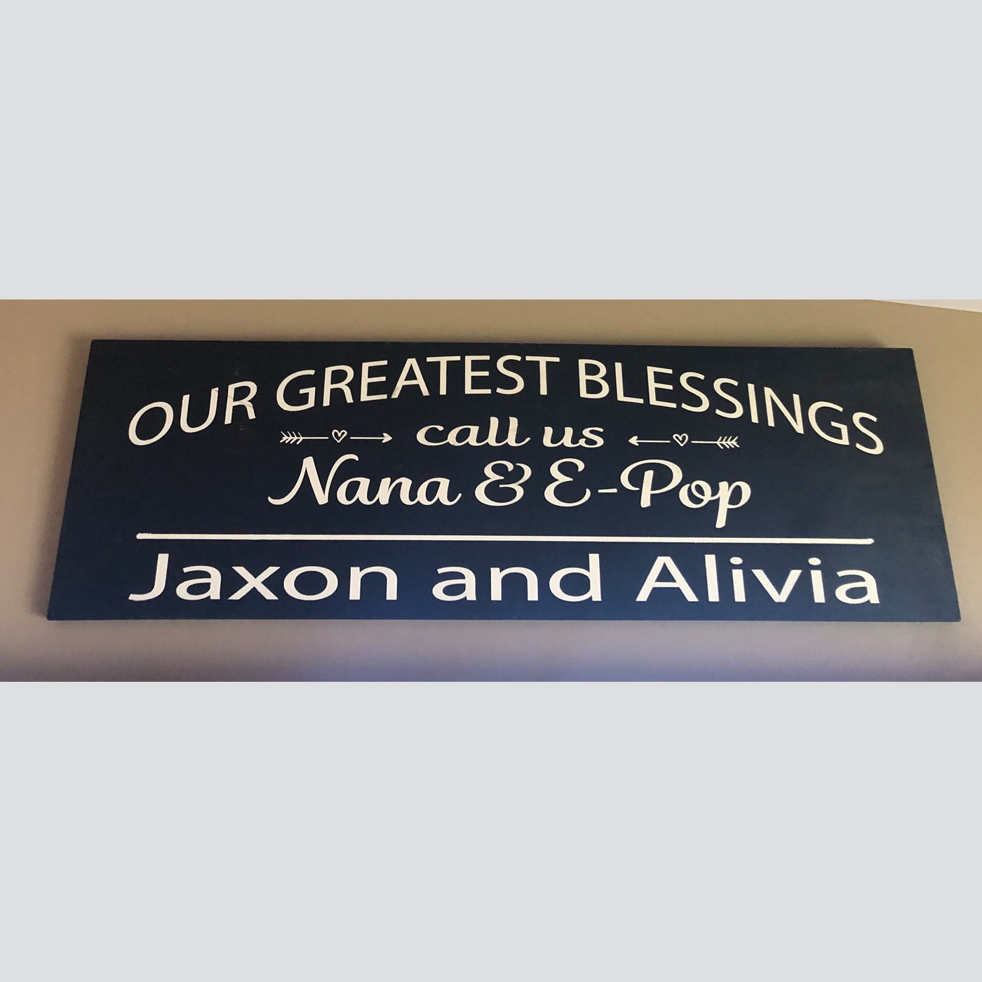Greatest Blessings DIY Wood Sign grandparents