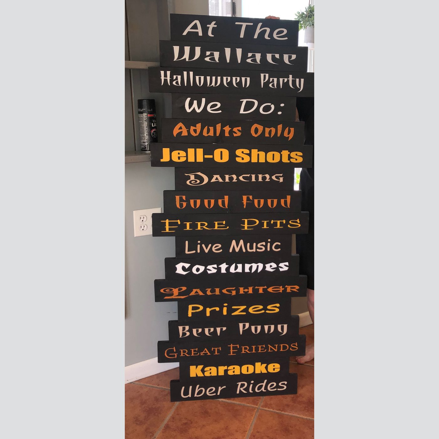 Halloween Rules Customized DIY wood Sign