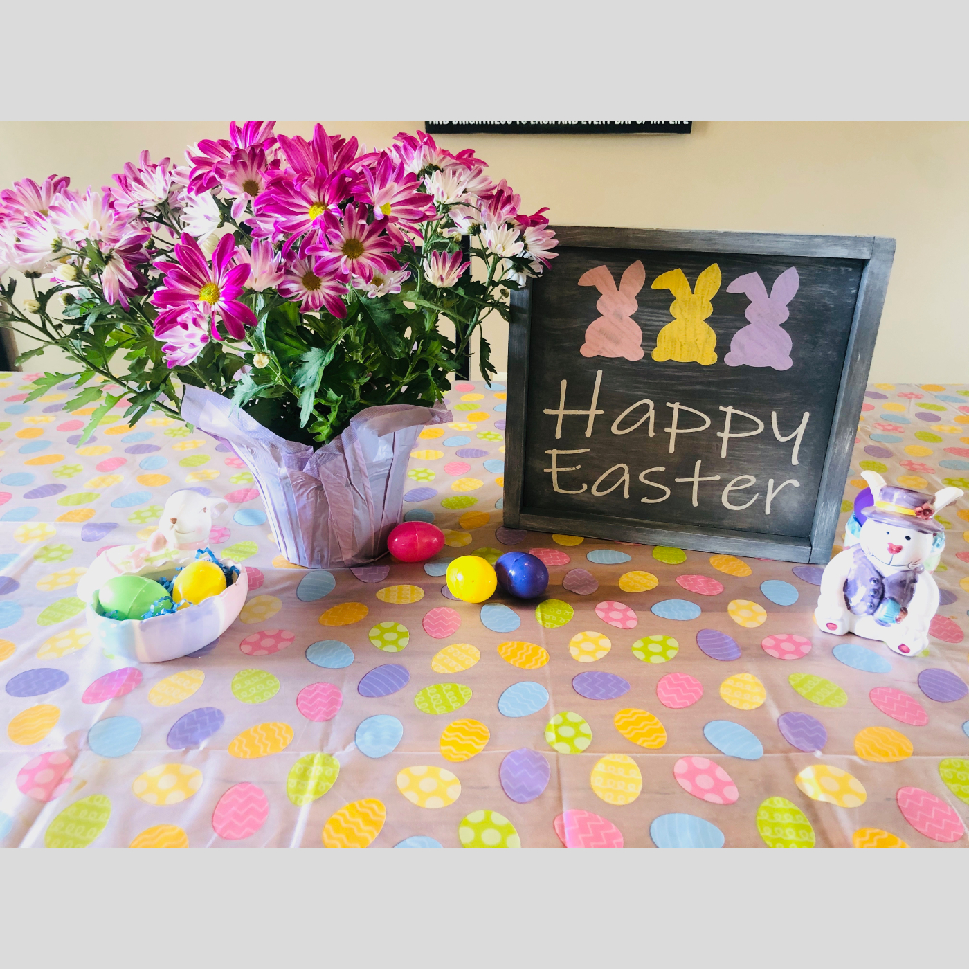 Happy Easter Framed DIY wood sign