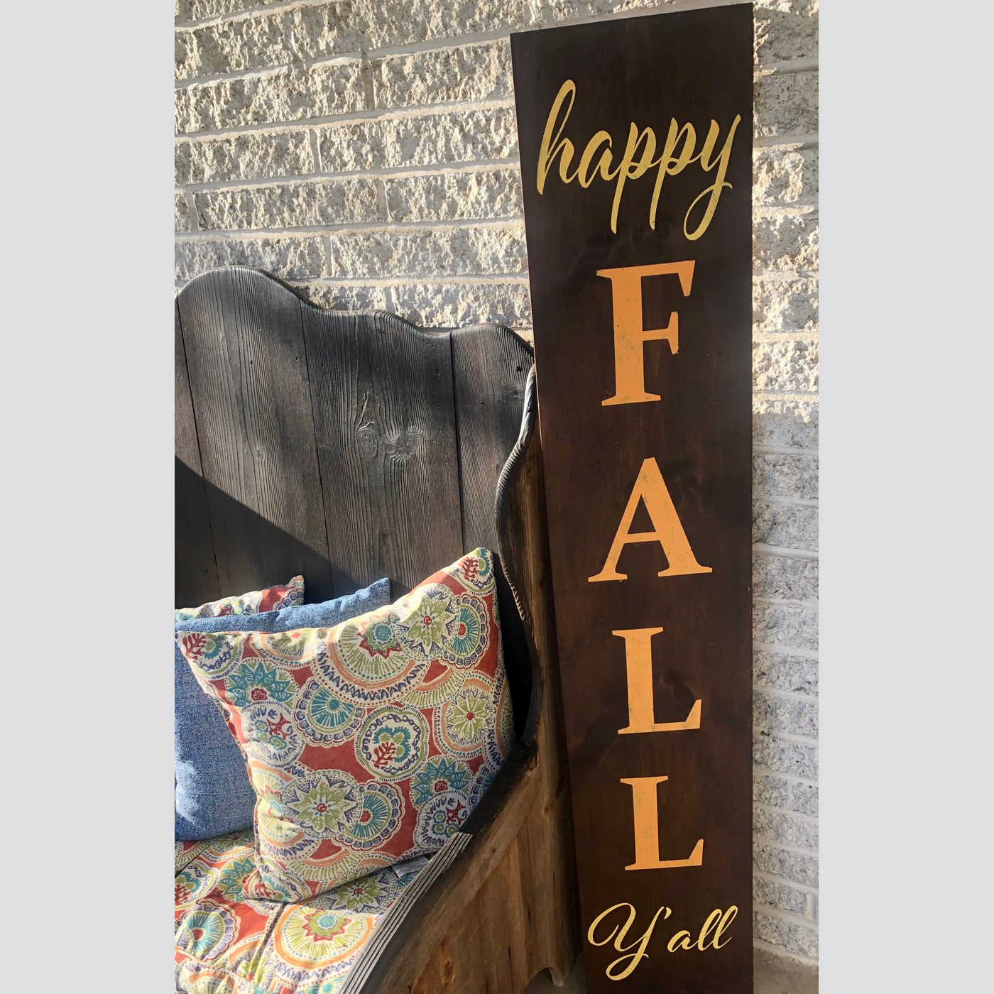 Happy Fall Y'all DIY wood sign welcome