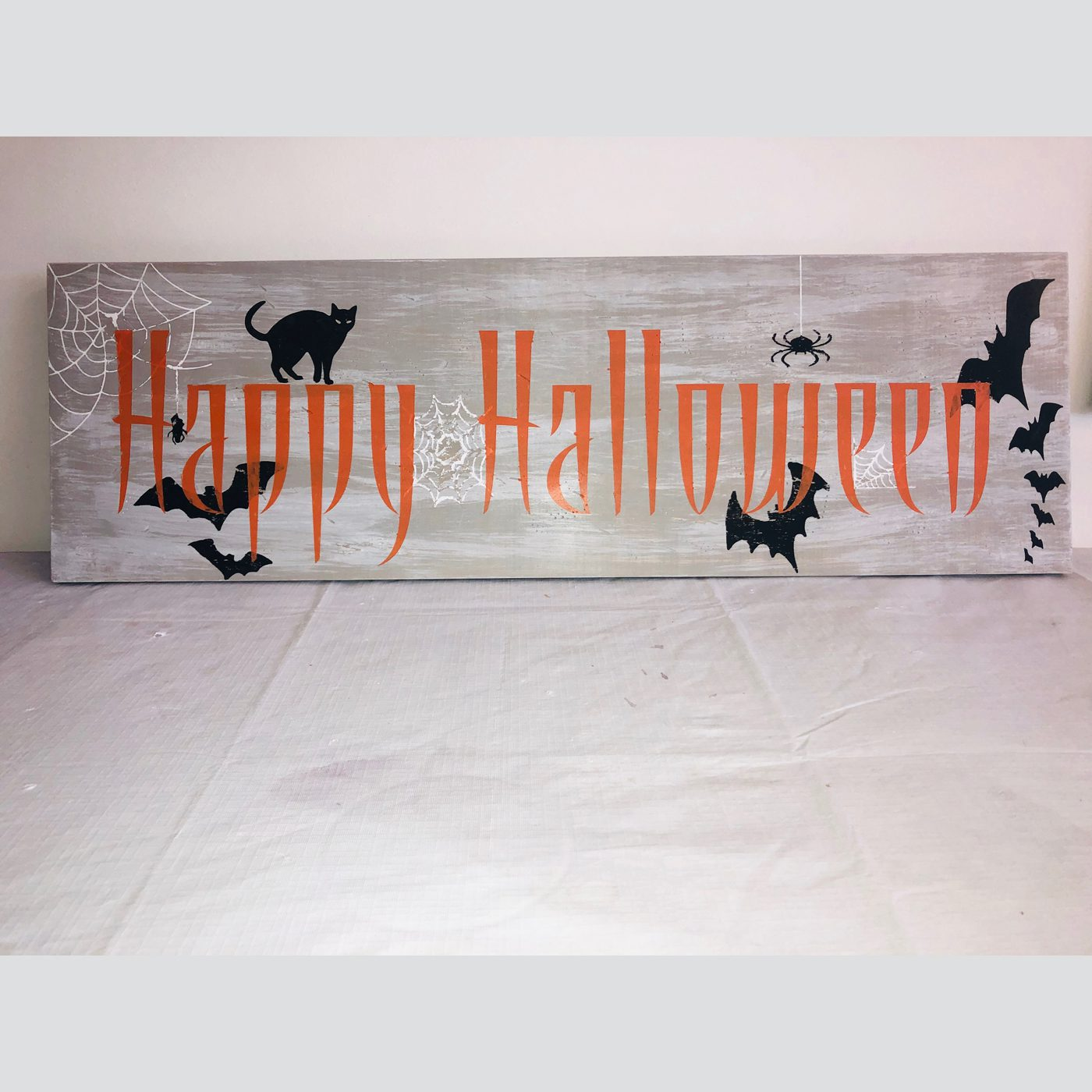 Happy Halloween DIY wood sign