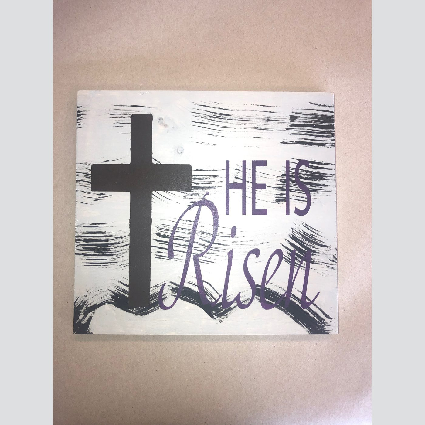 He is Risen DIY wood sign easter God