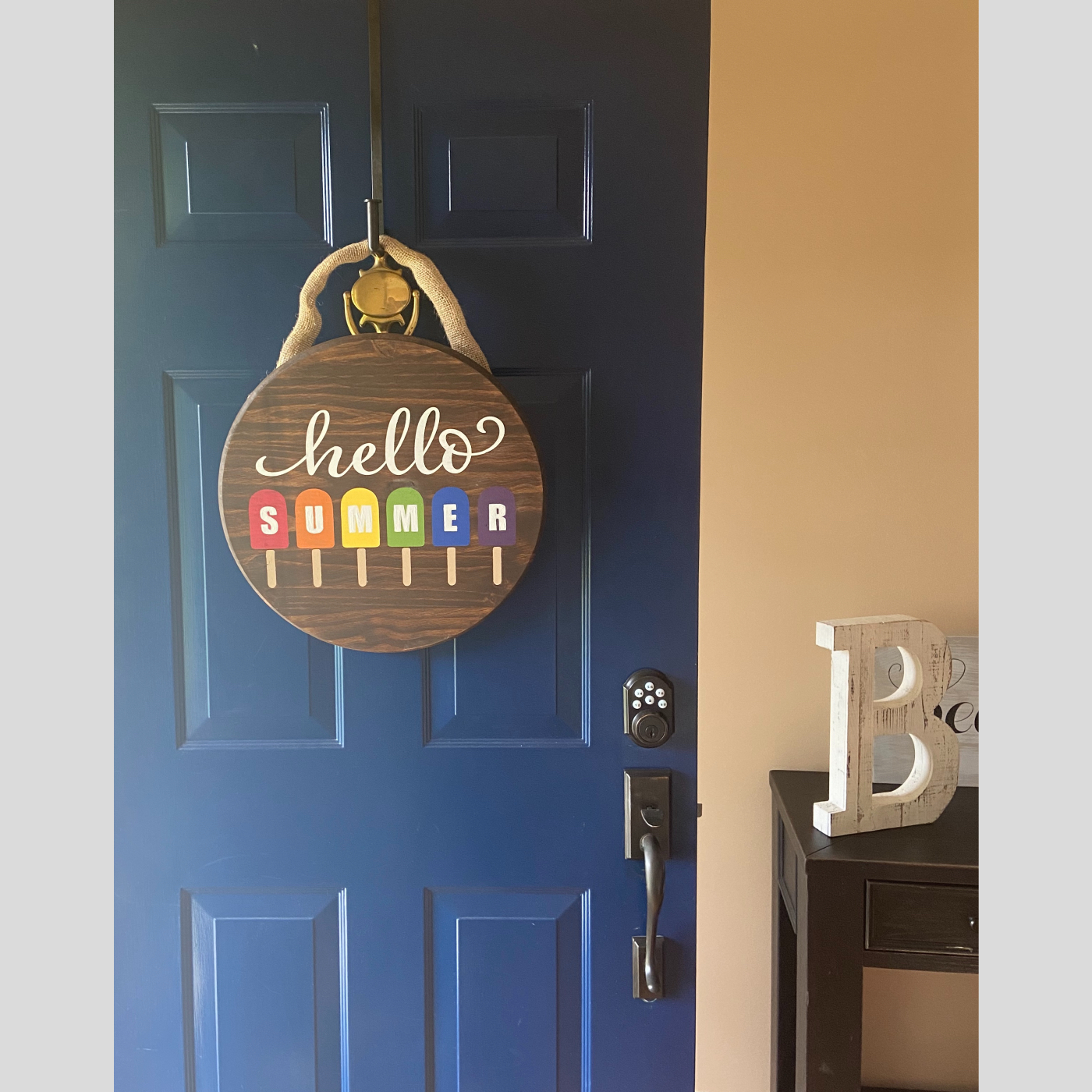 Door Hanger - Hello Summer DIY Wood Sign Bethlehem PA