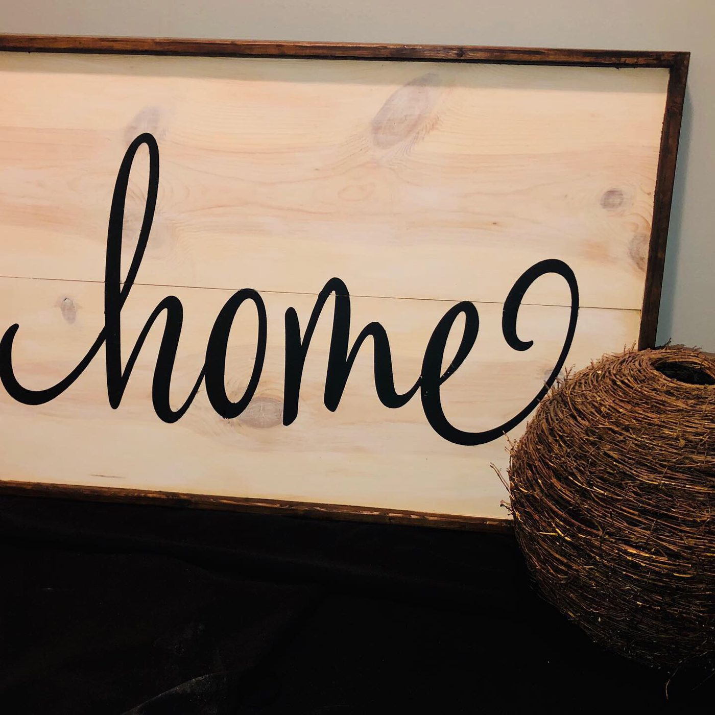 Home DIY wood sign