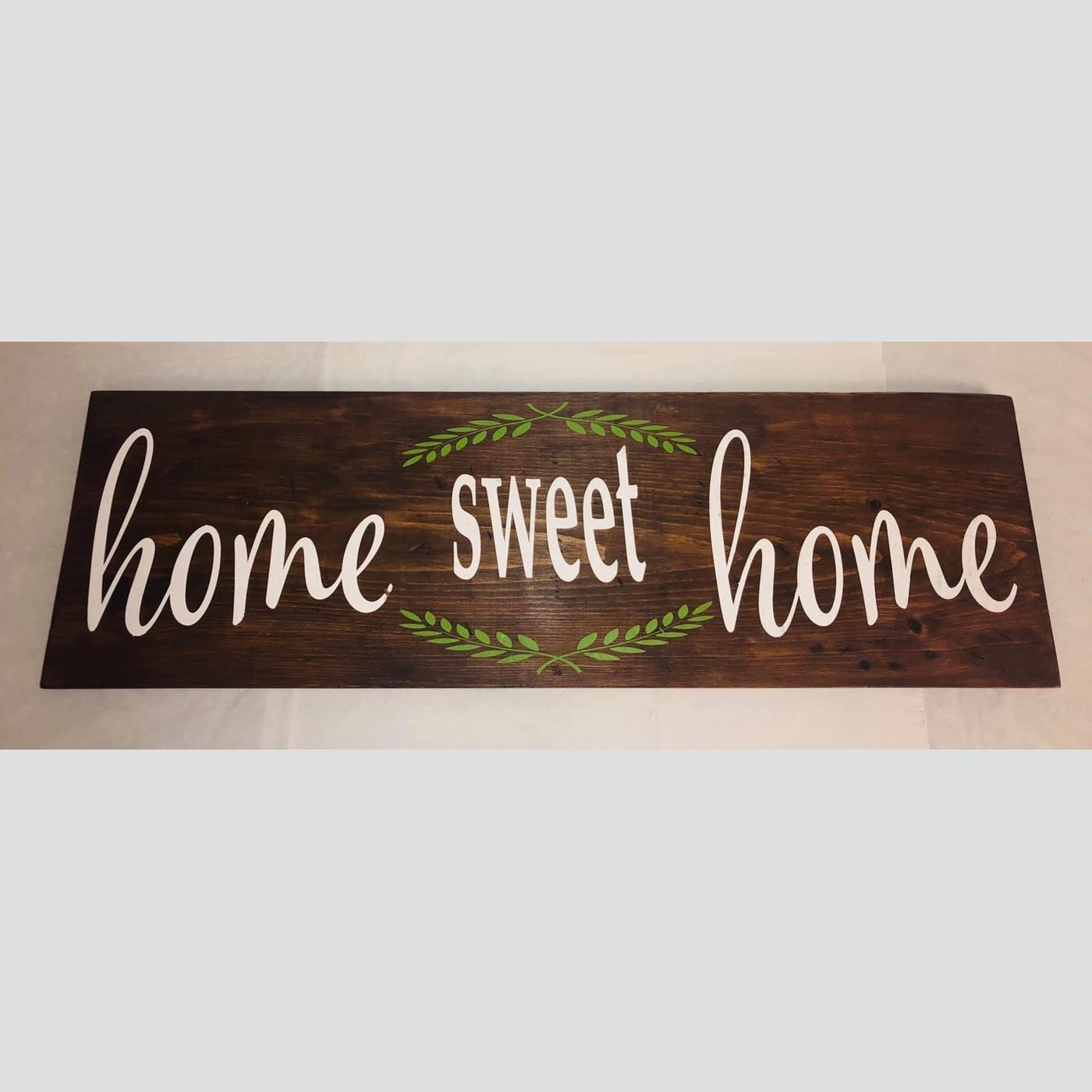 Home Sweet Home DIY wood sign