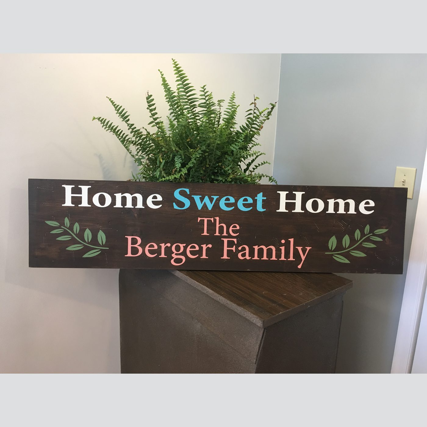 Home Sweet Home with Personalization DIY wood sign