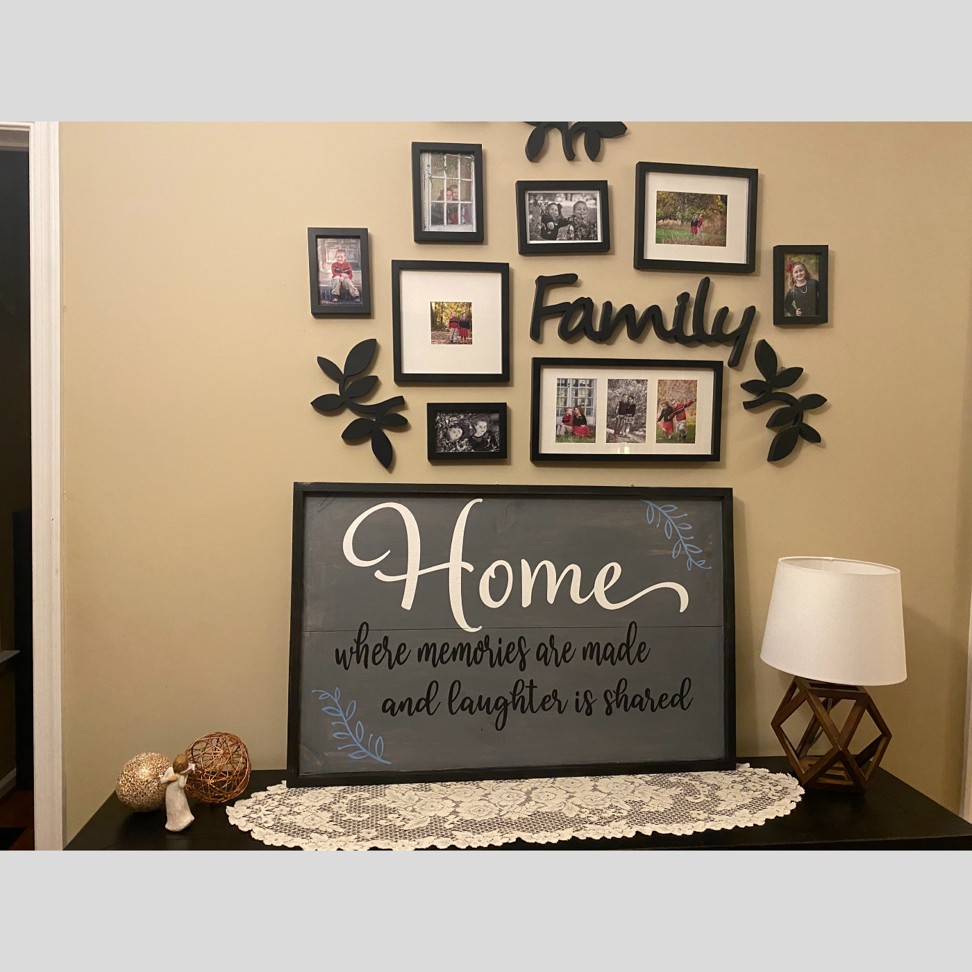 Home Memories an Laughter DIY Wood Sign Bethlehem PA