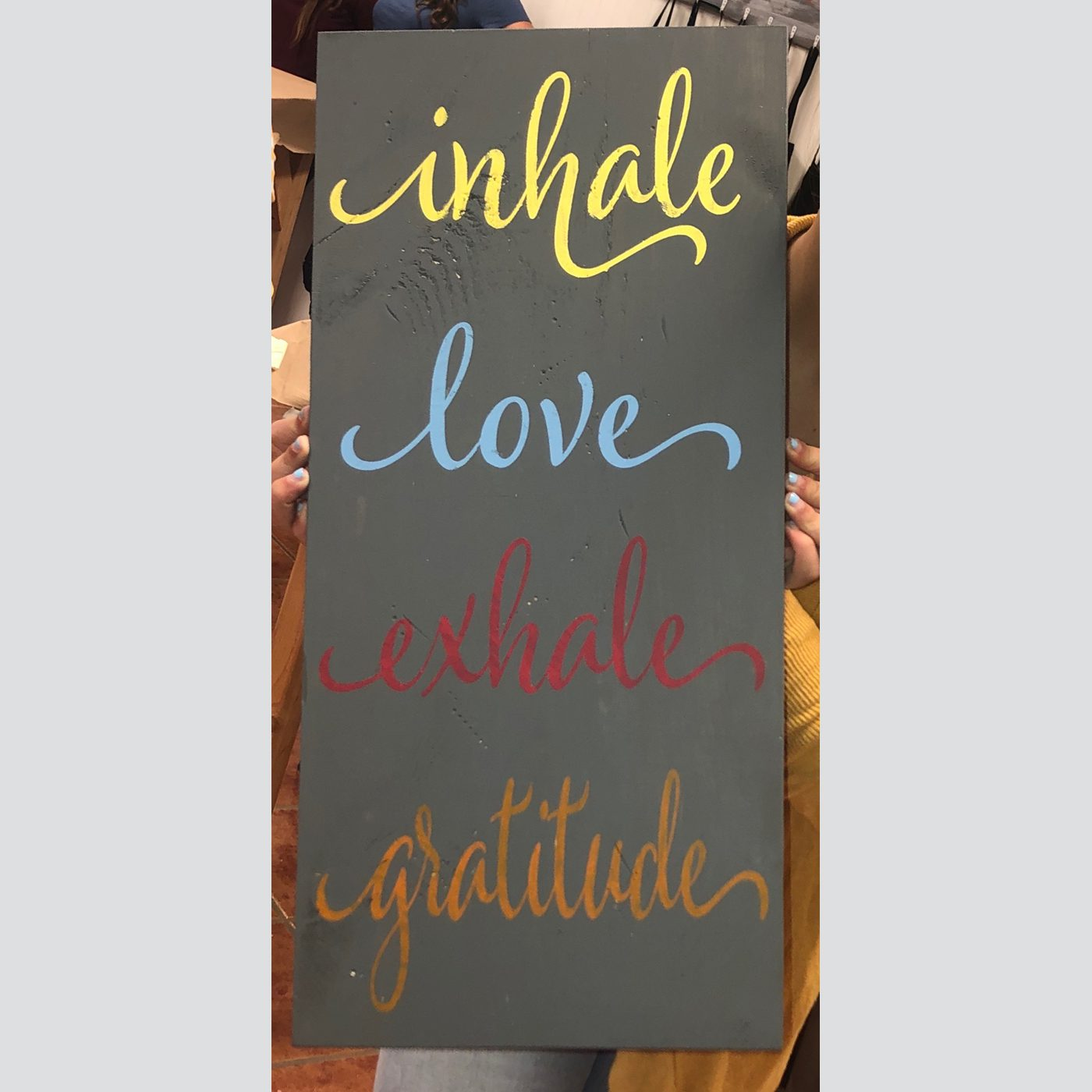 Inhale, Exhale DIY wood sign kids
